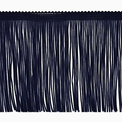 TRIMPLACE 12 Inch Navy Chainette Fringe Trim-Sold by the Yard