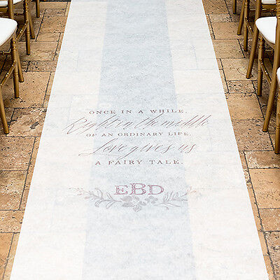 Modern Fairy Tale PERSONALIZED Aisle Runner Wedding Ceremony Decoration  - Personalized Wedding Aisle Runner
