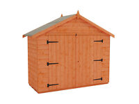 8x4 Wooden Apex Garden Shed Shiplap 5 years old