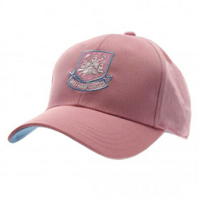 Womens Girls Pink West Ham United Hammers Baseball Cap Hat Officially Licensed