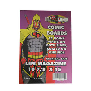 Image Guard LIFE MAGAZINE .... BACKING BOARDS ... package of 100