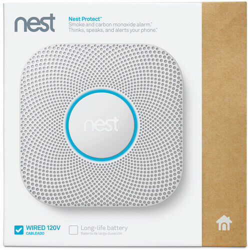 Google - Nest Protect 2nd Generation Smart Smoke/Carbon Monoxide Wired Alarm