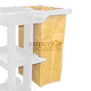 "Janitorial Supplies Bag Janitorial Cart Universal, 29.5"" X 20.5"" X 14"".5' Yellow"