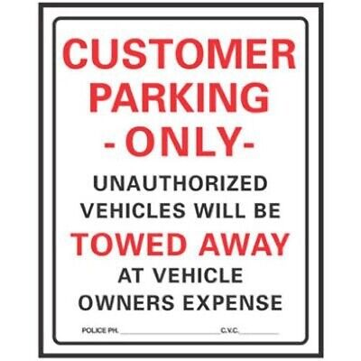 Hy-ko Customer Parking Only Sign
