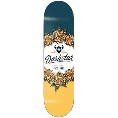 Darkstar Bloom Skateboard Deck 8.0 Yellow/Blue