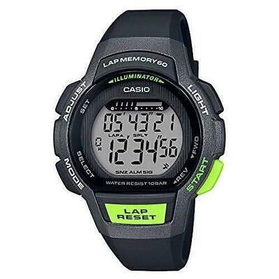 Casio LWS1000H-1AV, 10 Year Battery Watch, 100 Meter WR, Black Resin, 3 Alarms  Casio Ladies 10 Year Battery