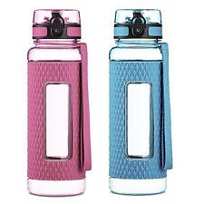 Swig Savvy BPA Free 32oz Tritan Water Bottle Silicone Sleeve Infuser Blue Pink