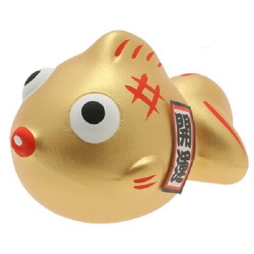 Kotobuki Kingyo Gold Goldfish Lucky Collectible Figurine Ornament Rich Success