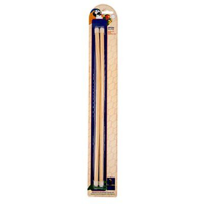 Penn Plax Long Wooden Bird Perch, 16-Inch