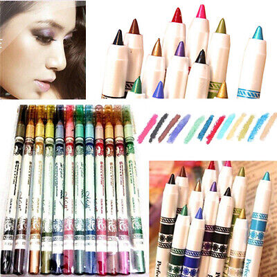 Fashion 12 Pcs/set Cosmetic Eye Shadow Lip Liner Eyeliner Pencil Pen Makeup Hot Eyeliner