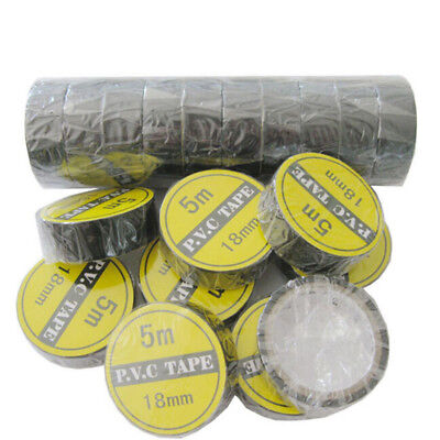 2pc 3.5m Vinyl Electrical Tape Insulation Adhesive Tape Black Home Use Toolyr