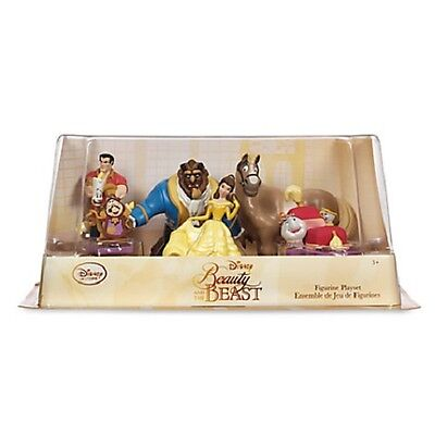 Disney Beauty And The Beast 6 Piece Figure Figurine Play Set BNIB