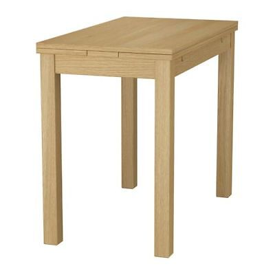Extendable table BJURSTA Oak veneer 50/70/90x90 cm