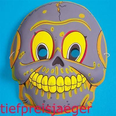 KINDER TOTENKOPFMASKE Halloween Totenkopf Schädel Maske Kostüm Party Deko 4609-2 Schädel Kind Maske