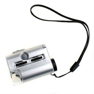 60x loupe with uv for conterfeit detection carry case included.