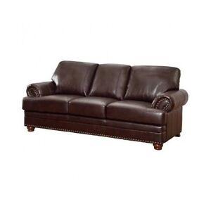Leather Nailhead Sofa Ebay