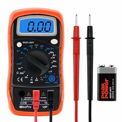 Weepro Vpro850l Digital Multimeter Dc Ac Voltmeter Ohm Volt Amp Test Meter
