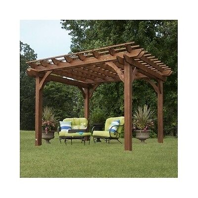 Garden Pergola Free Standing Outdoor Gazebo Wooden ...