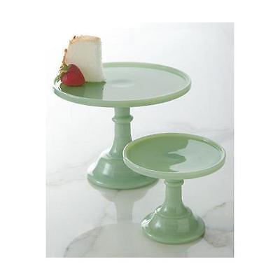 "Jadeite 6"" Glass Cake Stand - By Mosser Glass"