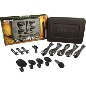 Shure PGADRUMKIT5 Mic Kit for Drum with 5 Microphone