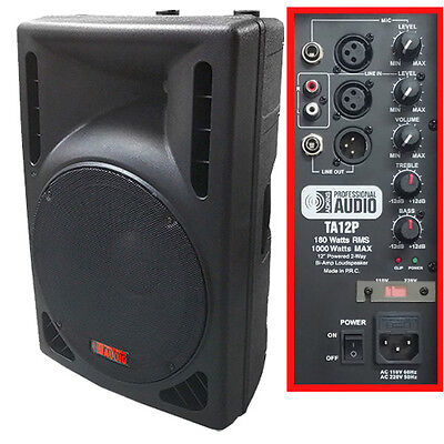 NEW -1000 Watt Powered DJ Speaker - 12-inch - Bi-Amp 2-Way Active Speaker System