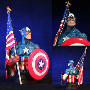 Marvel Captain America Classic Version Mini Bust - Statue NEW Gentle Giant