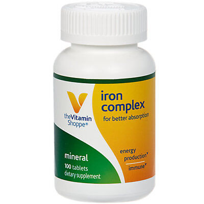 The Vitamin Shoppe The Vitamin Shoppe Iron Complex, For Better Absorption, (Vitamin B12 Best Absorption)