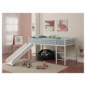 Child Bed - Brand New - Harper Twin Low Loft Bed with Slide