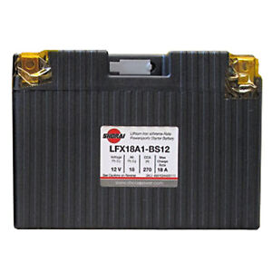 LITHIUM SHORAI BATTERY FOR MOTORCYCLES AND ATVS LFX18A1-BS12
