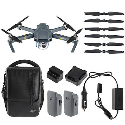 DJI Mavic Pro Fly More Combo Quadcopter Drone & 4K Gimbal-Stabilized 12MP Camera