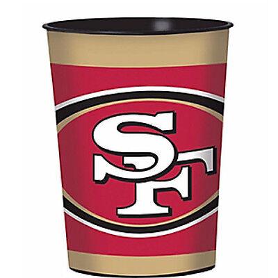 NFL SAN FRANCISCO 49ers REUSABLE KEEPSAKE CUPS (2) ~ Birthday Party Supplies ()