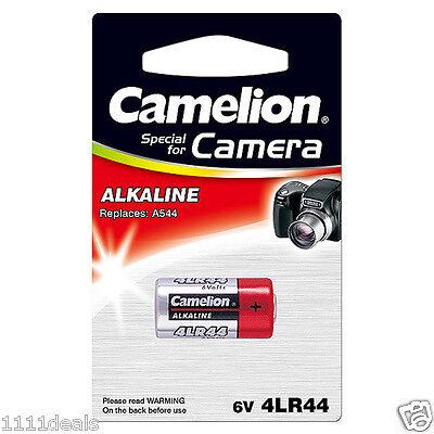 Camelion Aa Alkaline Batteries (1 CAMELION 4LR44 / 476A / PX28A / A544 / K28A / L1325 6V BATTERY EXPIRES)