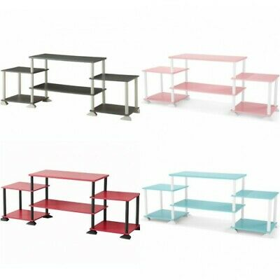 TV Stand Modern Entertainment Center Shelf Shelving Bench Cabinet Console DVD
