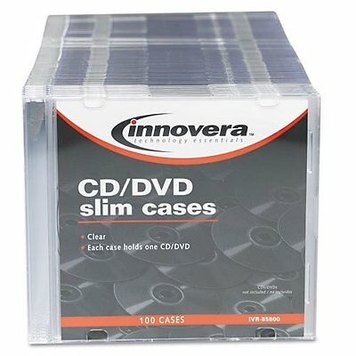 Innovera Slim Cddvd Case - Jewel Casepolystyrene - Clear 85800