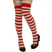 Red Over The Knee Socks