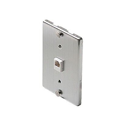 Eagle Wall Plate Telephone Stainless Steel Jack Modular 6P4C Phone Wall Mount Eagles Stainless Steel Plate