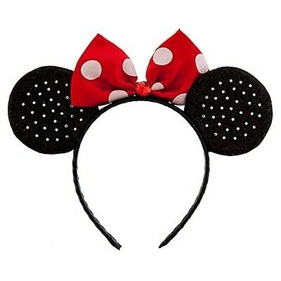 Authentic Disney store minnie mouse ears headband costume park halloween - Authentic Minnie Mouse Costume