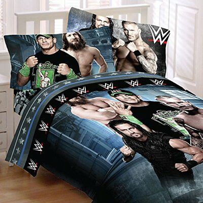"WWE 4 pc Twin ""Superstars"" Comforter & Sheet Set - John Cena"