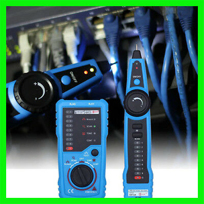 Handheld Telephone Wire Tracker Tracer Toner Ethernet Lan Network Cable Tester D