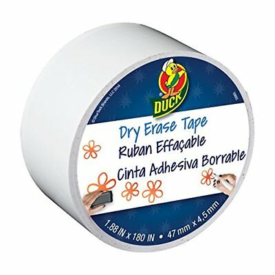 Duck Brand Dry Erase Crafting Tape 1.88-inch X 5-yard Roll White 284878