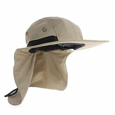 (Men's Women Camping Outdoor Fishing Hiking Sun Protection Hat Neck Cover Flap)