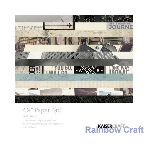 2016 - 2019 Discounted KAISERCRAFT paper pads 6.5 * 6.5 inch 20 options - Just Landed