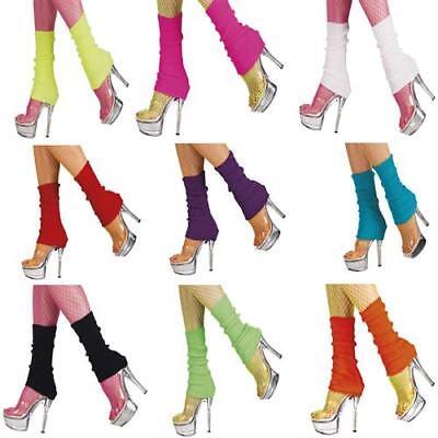 Bein Stulpen 80er Jahre (80er Jahre Aerobic Beinstulpen Stulpen Neon Farben pink gelb grün blau orange)