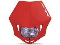 New Polisport MMX Headlight Enduro Road Legal Red MX CRF XR 250/400/450