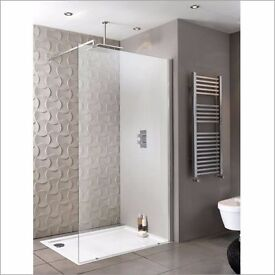 Walk In Shower Screen and Wall Support – 1200mm