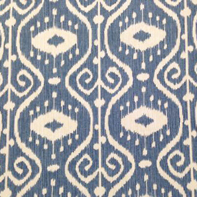 MAGNOLIA HOME BALI YACHT IKAT BLUE COTTON UPHOLSTERY FABRIC $7.50/YD BTY 74FE