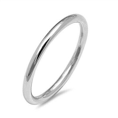 Round Band Toe Ring Genuine Sterling Silver 925 Polish Height 1.5 mm Selectable Polished Toe Ring