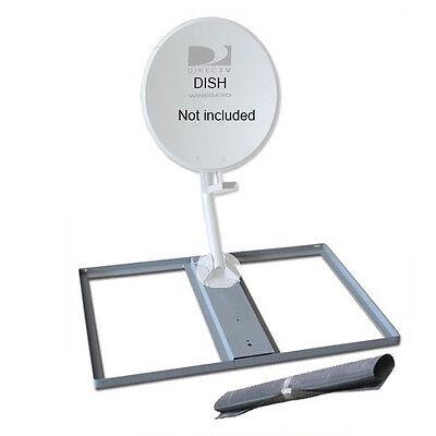Non-Penetrating Mount Satellite Dish DirecTV Roof Base /& Protective Mat 6003