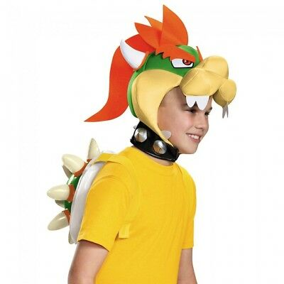Mario Bowser Halloween-kostüme (Disguise Super Mario Bowser Kit Villain Peach Child Halloween Costume 85231CH )