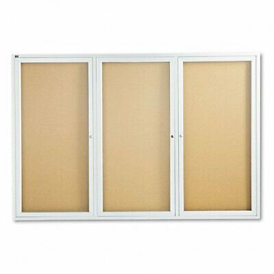 Quartet Bulletin Board - 48 Height X 72 Width - Cork Surface - Anodized